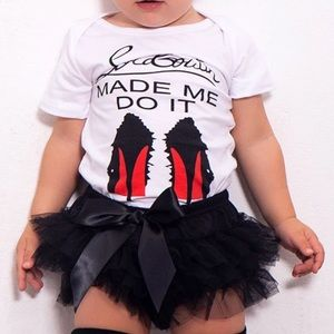 little louboutin Matching Sets - Louboutin onesie tutu bloomer outfit set new